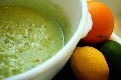 "handbymade: "" Fresh Avocado, Herb, and Citrus Salad Dressing Ingredients: Avocado Juice, Avocado Soup, Fresh Avocado, Mashed Avocado, Ripe Avocado, Fresh Lemon Juice, Fresh Basil, Lime Juice, Avocado Dressing"