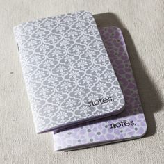Mineral jotter notepad - Smock. 3.50 x 5.50 x 0.25. set of two coordinating eco notebooks, 40 pages each.