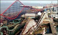 Blackpool U.K at Pleasure Beach Theme Park. This was an amazing ride