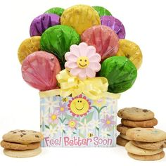 Feel Better Cookie Bouquet Gift Box