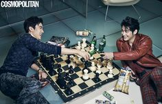 Yoo Yeon Seok and Kim Bum