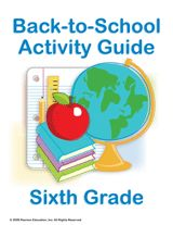 Sixth Grade Summer Learning Guides: Get Ready for Back-to-School    Prepare students for the sixth-grade school year with this guide of fun and educational activities for summer learning. Included in this packet is a list of suggestions for books to read over the summer, geography skill-builders, genetics worksheets, measurement activities, creative writing lessons, and more!