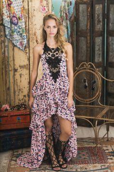 Lookbook Summer of Love Highly Preppy SS16 // Vestido largo abullonado estampado flores