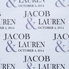 Wedding Personalized White Tissue Paper-Large