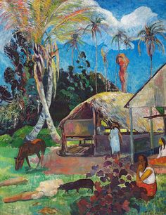 Paul Gauguin - Black Pigs at Museum of Fine Arts Budapest Hungary | Flickr - Photo Sharing!