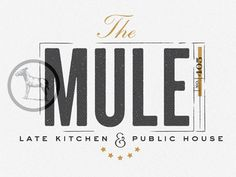 mule logo / pinned on toby designs