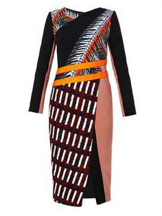 Etch multi-panel dress SG$2490