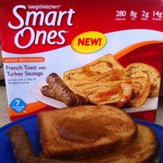 My fav Smart Ones breakfast Weight Watchers Smart Ones, Best Frozen Meals, Food Lion, Turkey Sausage, Giveaways, Freezer, French Toast, Dinners, Dinner Recipes