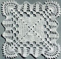Vintage Cockle Shell Motif ~ free pattern