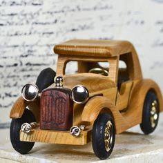 ON the ROAD AGAIN... vintage wooden car.. by CoolVintage on Etsy, $27.50