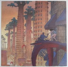 Image by François Schuiten used in a huge outdoor exhibition in Le Havre, See http://www.altaplana.be/gallery/images/oh_ce_sera_beau