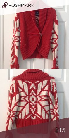 American Eagle Outfitters Red Sweater XS Great condition.  Thanks for looking American Eagle Outfitters Sweaters Cardigans