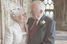 Cute older couple wedding portrait - Picture by Camilla Rosa Photography www.camillarosa.co.uk
