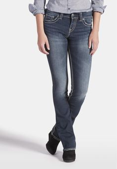 silver jeans co. ® suki slim boot fluid jeans