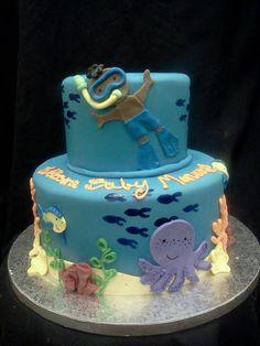 scuba baby shower cake: facebook.com/terrycakessparks