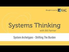 Systems Thinking - System Archetypes - Shifting the Burden Leadership Courses, Systems Thinking, Archetypes, Product Development, Learning, Models, Youtube, Templates, Product Engineering