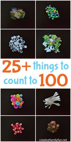 Here are over 25 everyday things to count to They're all small, easy-to-find, and perfect to bring for the day of school. Here are over 25 everyday things to count to They're all small, easy-to-find, and perfect to bring for the day of school. 100 Day Project Ideas, 100 Day Of School Project, 100 Days Of School, School School, School Classroom, School Stuff, Middle School, Classroom Ideas, High School