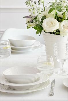 Sophie Conran for Portmeirion. White Ceramic dishes are a perfect blank canvas for beautiful meals.