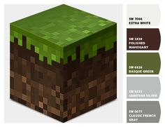 Paint colors from Chip It! by Sherwin-Williams. Minecraft Color Palette