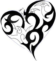 How To Draw A Tribal Heart Tattoo Design In Easy Steps Tutorial How To Draw Step By Step Drawing Tutorials In 2020 Tribal Heart Tribal Heart Tattoos Heart Tattoo Designs