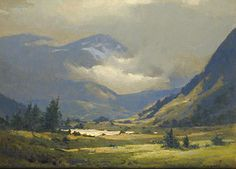 Alaskan Range (oil on linen, by John P. How does the landscape call to you? Oil Painting Lessons, Oil Painting Techniques, Painting & Drawing, Fantasy Paintings, Paintings I Love, Oil Paintings, Landscape Art, Landscape Paintings, Landscapes