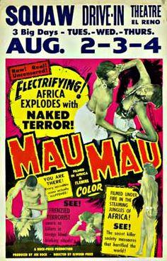 Mau Mau Kenya Movie Poster 1955