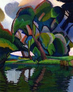 Auguste Herbin (Fr. 1882-1960), Paysage à Créteil, 1909, huile sur toile, 46 x 38 cm, musée des Beaux-arts, Rennes
