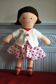 Prachtige outfit voor pop van Ellemien - zeker de schoentjes