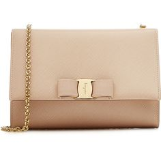 Salvatore Ferragamo Ginny Mini Leather Shoulder Bag (155 KWD) ❤ liked on Polyvore featuring bags, handbags, shoulder bags, rose, mini shoulder bag, salvatore ferragamo handbag, leather purse, beige purse and mini leather handbags