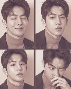 "has posted these stunning ""behind the scenes"" photos from Wookie's latest pictorial for 😍😍😍💖💖💖 I won't post all of… Nam Joo Hyuk Selca, Nam Joo Hyuk Cute, Nam Joo Hyuk Photoshoot, Weightlifting Kim Bok Joo, Nam Joo Hyuk Wallpaper, Jong Hyuk, Joon Hyung, Kim Book, Bride Of The Water God"