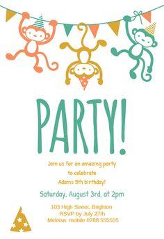 Childrens Party - Birthday Invitation