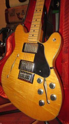 Fender Starcaster 1975 Natural Flamed Top   Reverb
