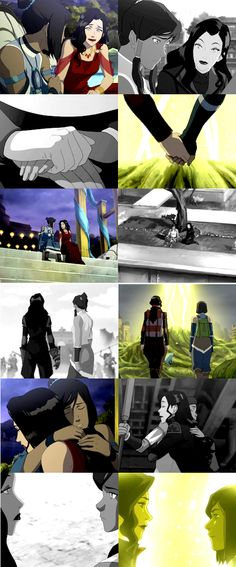 The Legend of Korra.  Korrasami.  Korra and Asami over the years and in the finale