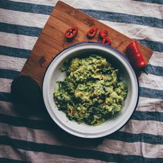 Flat-lay of the Lemony Guacamole. Perfect for dipping and sharing! See the recipe on Smashed Avocado blog.