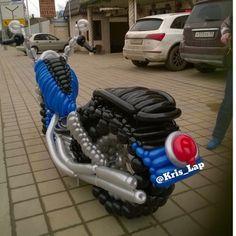 Мотоцикл из шаров. Харлей