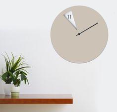 Freakish Wall Clock Beige by Sabrina Fossi Design