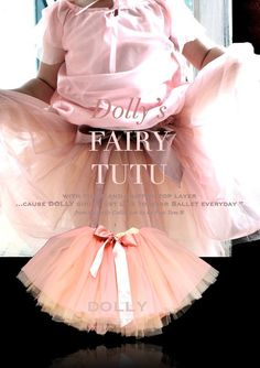 DOLLY by Le Petit Tom ® FAIRY TUTU cream dusty pink
