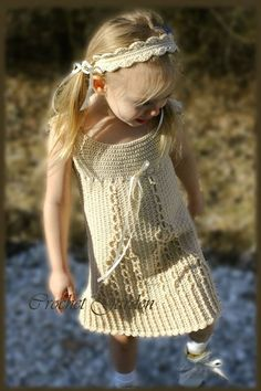 Little Cablelet  - Crochet Sundress Pattern Size 12 mos - Girls Size 7, Stylish, no-nonsense. $6.99, via Etsy.