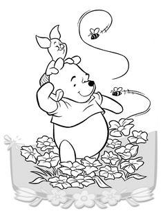 Peter Plys Tegninger til Farvelægning. Printbare Farvelægning for børn. Tegninger til udskriv og farve nº 11