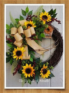 Check out this item in my Etsy shop https://www.etsy.com/listing/523783809/spring-wreath-summer-wreath-sunflower