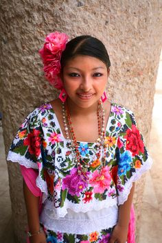 71945482f28 a beautiful girl and her beautiful traditional dress Mexican Outfit