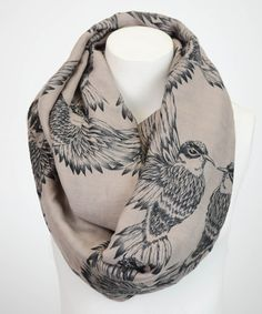 Look what I found on #zulily! Mocha Swallow Infinity Scarf by Leto Collection #zulilyfinds