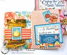 Enjoy the Little Things in Life Gift Card Holder Cafe Parisian by Kathy Clement for Really Reasonable Ribbon Product by Graphic 45 Photo 7 Gift Card Presentation, Gift Cards Money, Money Holders, Graphic 45, Birthday Presents, Little Things, Best Gifts, Card Making, Card Holder