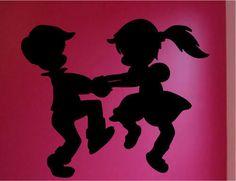Baile de los niños silueta tatuajes de pared de vinilo pegatinas home decor nursery wall decal niños decoración del partido wallpaper en Pegatinas de Pared de Casa y Jardín en AliExpress.com | Alibaba Group