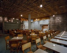 A nice restaurant design which is called the Pio Pio Restaurant is completed designed by the Sebastian Marsical Studio. This amazing restaurant is built in New York. By the architect, this restaurant is built by two components of materials, it is concrete and wood.