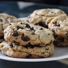 The cookies from this recipe blending peanut butter and chocolate chip cookie recipes are really chewy and addictive.