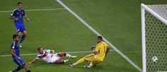 Götze marca o gol que deu o tetracampeonato à Alemanha Foto: RICARDO MORAES / REUTERS