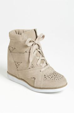 Kind of want to replace my neutral fall booties with these | Jeffrey Campbell 'Venice-Hi' Wedge Sneaker