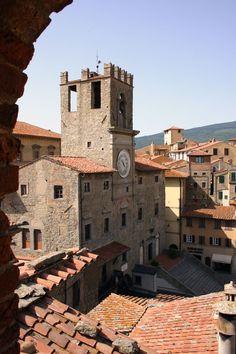 La Piazza della Repubblica di Cortona, Provincia di Arezzo, Toscana - Italy