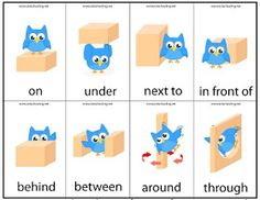 Motor Skills Preposition Game with Free Printable